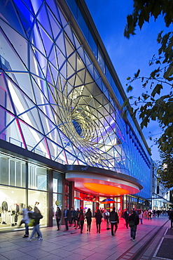 A glass facade of the passage MyZeil by Massimiliano Fuksas, Frankfurt am Main, Germany