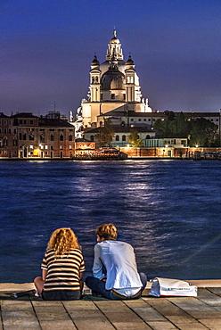 A view of the church of Santa Maria della Salute from Giudecca island off Venice, Italy