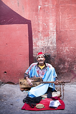 Street music in the old town of Marrakesh, Morocco