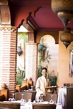 The restaurant La Maison Arabe, Marrakesh, Morocco