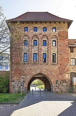 The Kuhtor (Cow Gate), the oldest gate in the historic city fortifications, Rostock, Germany