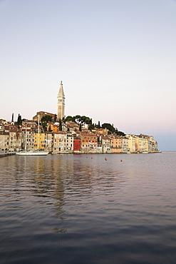 View of Rovinj cityscape and sea in Croatia