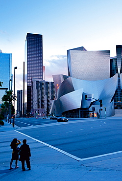 Exterior of Walt Disney Concert Hall, Los Angeles, California, USA