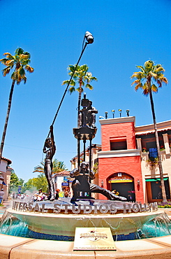 Hollywood fountain at Universal studio, Los Angeles, California, USA