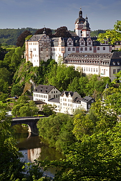 View of baroque castle at Lahn, Weilburg, Hesse, Germany