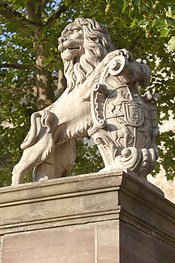 Fridericianum Lion with Coat of Arms at Kassel, Hesse, Germany