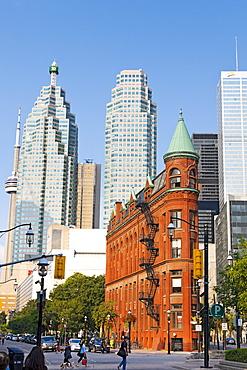 Gooderham Building in Wellington Street, financial district, Toronto, Canada