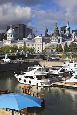 Downtown marina in Old Town, Montreal, Canada