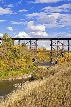 Moose Jaw River Park in Wakamow Valley, Saskatchewan, Canada