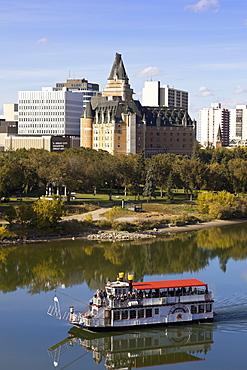 Ferry in Saskatchewan River, Saskatoon, Saskatchewan, Canada