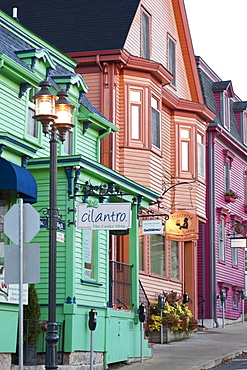 King Street of small port town in Lunenburg, Nova Scotia, Canada