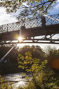 View of bridge in Freiburg im Breisgau, Germany