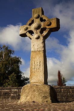 Low angle view of Celtic Cross, Ireland, UK