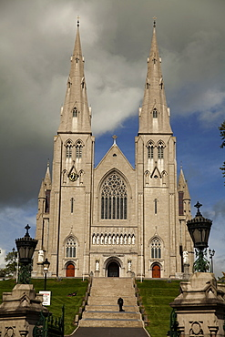 Facade of St. Patrick's Cathedral in Armagh, Ireland, UK