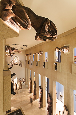 View of figures of prophets in Sculpture Hall at Augustiner Museum, Freiburg, Germany