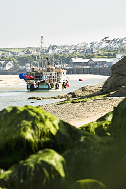 A fishing boat off the coast of Padstow (Cornwall, England)