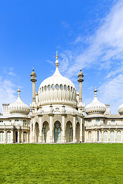 Brighton Pavilion, George IV's summer palace built in the early 19th century, Brighton, Sussex, England, United Kingdom, Europe
