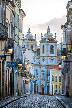 View of the Church of Our Lady of the Rosary, Pelourinho, in the historical centre of Salvador, UNESCO World Heritage Site, Bahia, Brazil, South America