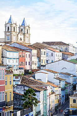 View of the historical centre of Salvador, UNESCO World Heritage Site, Bahia, Brazil, South America