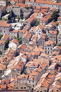 Elevated view of rooftops, Dubrovnik, Dalmatia, Croatia, Europe