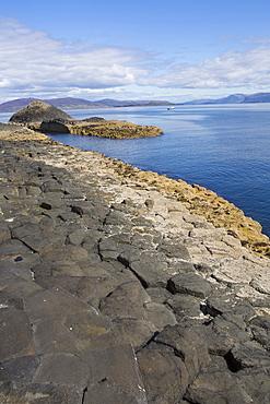 Basalt columns, Staffa Island, Inner Hebrides, Scotland, United Kingdom, Europe