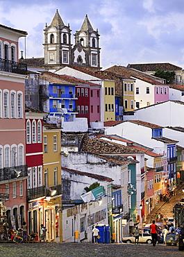 The Pelourinho area in the historical centre of Salvador, UNESCO World Heritage Site, Bahia, Brazil, South America