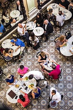The Interior of the Confeitaria Colombo, a Portuguese art deco cafe in central Rio de Janeiro, Brazil, South America