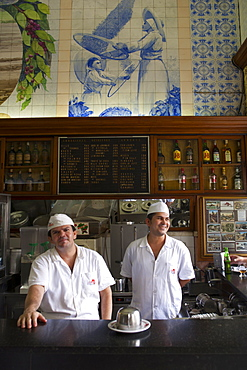 Waiters in a restaurant, Santos, Sao Paulo, Brazil, South America