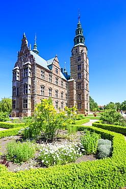 Gardens and Rosenborg Castle built in the Dutch Renaissance style, Copenhagen, Denmark, Europe