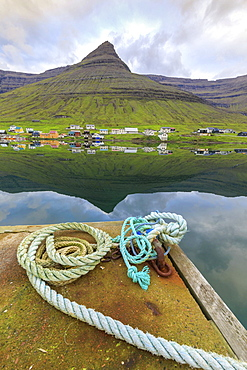 Village of Norddepil, Bordoy island, Faroe Islands, Denmark, Europe