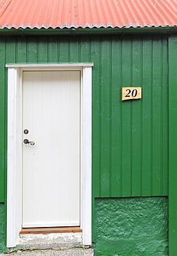 Details of traditional house, Kunoy Island, Nordoyar, Faroe Islands, Denmark, Europe