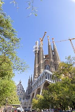 La Sagrada Familia church designed by Antoni Gaudi, UNESCO World Heritage Site, Barcelona, Catalonia, Spain, Europe