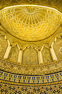 Golden dome inside the magnificent Grand Mosque, Kuwait City, Kuwait, Middle East