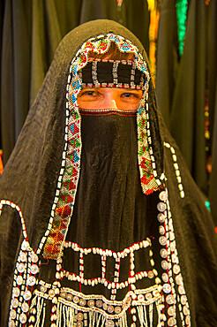 Woman with traditional Hijab, Tabuk, Saudi Arabia, Middle East