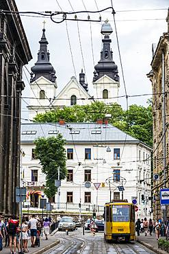 Pedestrian zone in the center of Lviv, UNESCO World Heritage Site, Ukraine, Europe
