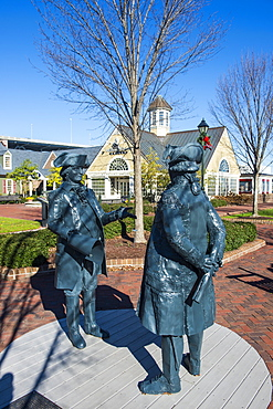 Historical statues in Yorktown, Virginia, United States of America, North America
