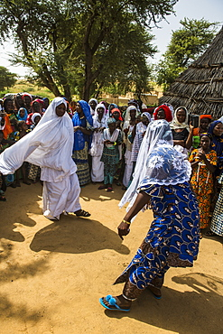 Wedding ceremony in a village in southern Niger, West Africa, Africa