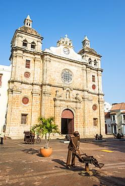 Church of San Pedro, UNESCO World Heritage Site, Cartagena, Colombia, South America