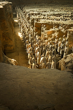 Pit 1, Warrtiors, Terracotta Army, UNESCO World Heritage Site, Xian, Shaanxi, China, Asia