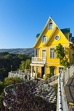 Colourful buildings, Valparaiso, Chile, South America