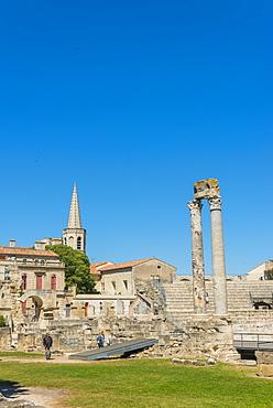 Arles Roman Ruins, UNESCO World Heritage Site, Arles, Bouches du Rhone, Provence, Provence-Alpes-Cote d'Azur, France, Europe