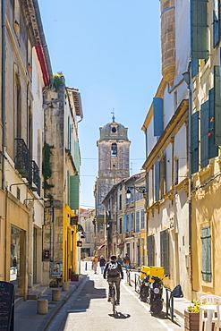Riding through Arles, Bouches du Rhone, Provence, Provence-Alpes-Cote d'Azur, France, Europe