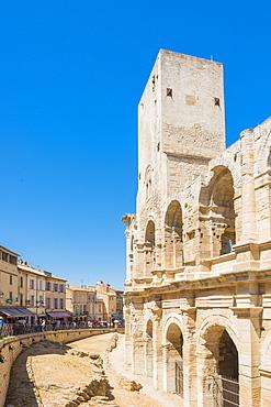 Arles Amphitheatre, UNESCO World Heritage Site, Arles, Bouches du Rhone, Provence, Provence-Alpes-Cote d'Azur, France, Europe