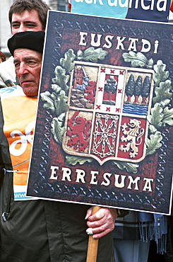 France, traditional basque cultural  in bayonne, french basque country
