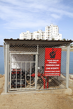 Cyprus. Varosha ghost town in Famagusta, Turkish occupied North Cyprus.