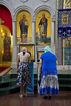 Russian Orthodox church service in Volgograd, Russia, Europe