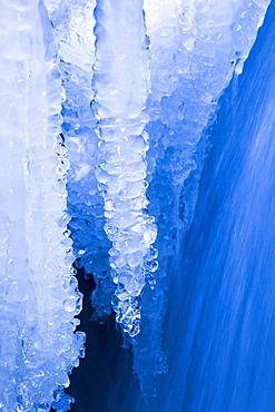 Eisdetail, Rhone, Wallis, Schweiz, Schweiz