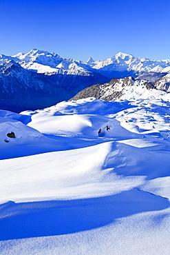 Schweizer Alpen, Alphubel - 4206 m, Dom - 4545 m, Mischabel, Matterhorn - 4477 m, Weisshorn - 4505 m, Unesco Welterbe, Wallis, Schweiz