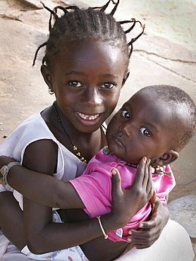 Gambia children of kabekel village, birkama