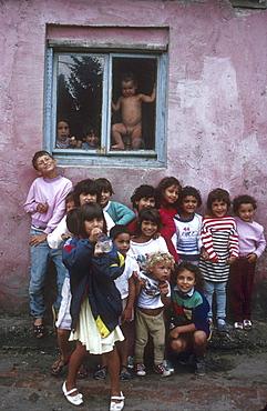 Slovakia gypsy children at senec